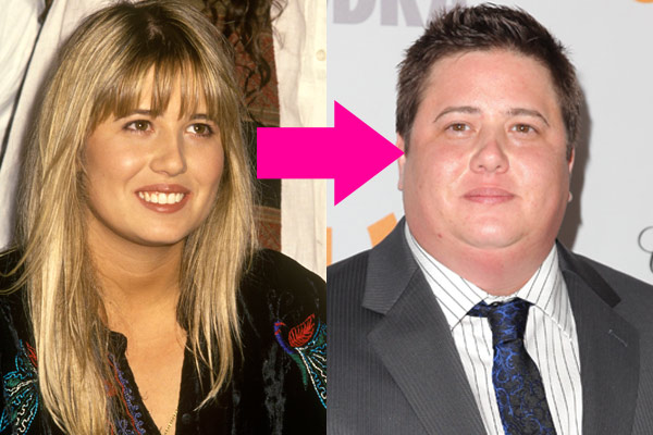 Chaz Bono before and after transition