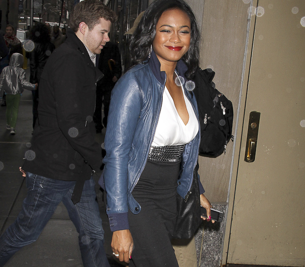 Tatyana Ali Out In New York City