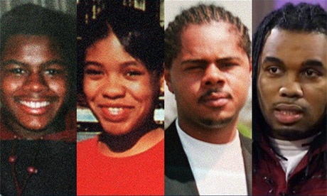 The fallen Chambers children: Carlos, killed at 18. LaToya, killed at 15. Jerome, killed at 23. Ronnie, killed at 33.